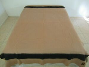 BARELY USED Vintage EARLY'S OF WITNEY 4-Point BROWN Pure Wool Blanket; ENGLAND