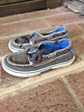 SPERRY TOP SIDER HALYARD CANVAS BOAT TODDLER BOYS GIRLS SHOES SIZE 9 ❤