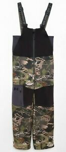 Under Armour Boys Storm Stealth Bib Camo Hunting Sherpa Lined Youth Size M