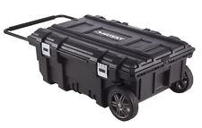 Husky 35 In. Mobile Job Box Work Cart Heavy Duty Portable Rolling Tool Storage
