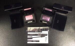 NIB Dior Lot Of 3 Items; 2 Diorshow Mono Eyeshadows Pink, Purple & Black Mascara