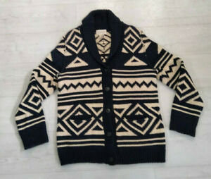 Ralph Lauren Denim & Supply Aztec Shawl Collar Knit Cardigan - Size Medium