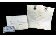 Harry Potter Acceptance Hogwarts Envelope Purchasing List + 9 3/4 Ticket Gifts