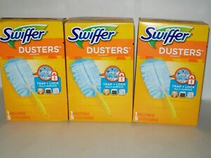 Swiffer Duster Short Handle Starter Kit 1 Handle, 5 Dusters Per Box Lot Of 3 New