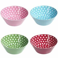 Childrens Bowl Melamine Plastic Spotty Polka Dot Kids Party Snack
