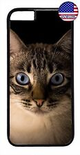 Cute Cat Kitten Hard Rubber Funny Case Cover For iPhone 7 6 6s Plus 5 5s 5c 4s