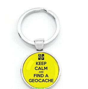 Schlüsselanhänger Geocaching Groundspeak Geschenk Keep Calm Cache