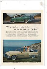 1953 DESOTO 2-DOOR COUPE/2-DOOR COUPE FIRE DOME V-8/POWERMASTER 6 AD PRINT E835
