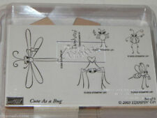 Stampin Up Cute as a Bug Stamp Set 6 Bee Spider Ladybug NEW UM