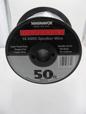 Philips Magnavox Flat Speaker Wire 14 AWG Heavy Duty 50 Ft Platinum - M62751