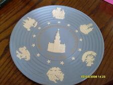 "Wedgwood Blue Jasper  American Independence 1976 Commemorative Plate, 9.5"" (128)"