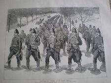 Taladro de zapatos de nieve regresan de artillería de St. Louis puerta Quebec canadiense 1890