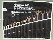COMBINATION RING O/END SPANNER 14Pc METRIC WRENCH SET 10-32mm FULLER PRO