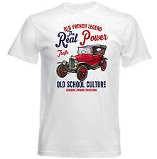 Vintage french VOITURE CITROEN MOTEUR 5CV-NEW T-shirt en coton