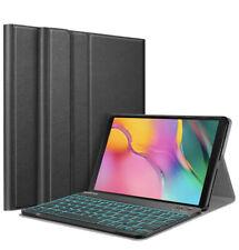 """Samsung Galaxy Tab A 10.1"""" 2019 T510/T515 Bluetooth Keyboard Case 7 Color Backli"""