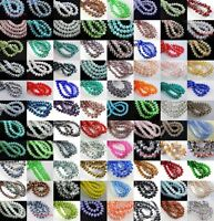 50pcs/80pcs Rondelle Crystal Glass Loose Spacer Beads Jewelry Making Findings so