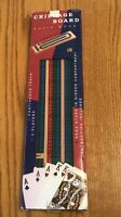 Solid Wood 3 tracks Cribbage Board -Pegs Stored in Board-Instructions-SHIPS FREE