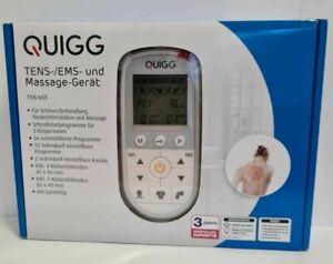 Quigg Tens Ems Massage Gerät Ten 603  Elektrostimulationsgerät Digital Tensgerät