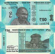 INDIA 2017 New Design Gandhi Series Rare 0AA prefix 50 RS No Inset Bank Note UNC