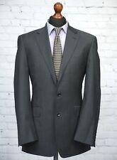 Mens Grey Pinstripe Wool Blend Blazer Jacket 40R George