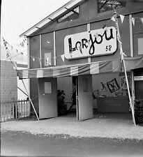 BRUXELLES 1958 - Exposition - Peintre Lorjou - Négatif 6 x 6 - Bel 38