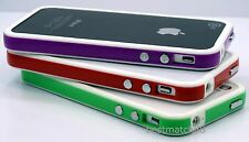 for iPhone 4 4s purple red green white 3x whole sale bumper case cover