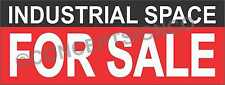3'X8' INDUSTRIAL SPACE FOR SALE BANNER Outdoor Sign LARGE Real Estate Warehouse