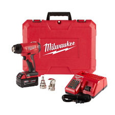 New Milwaukee M18 Cordless Heat Gun Kit w/5.0 Battery, Case, Charger #2688-21