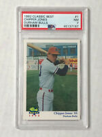 CHIPPER JONES 1992 Classic MINOR LEAGUE RC #1! PSA NM 7! BRAVES! DURHAM BULLS!