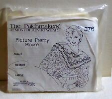 Patchmakers' Almost-Ready-To-Wear Kit 376 Picture Pretty Blouse Medium NOS