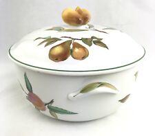 Vtg 1986 Evesham Vale Royal Worcester Porcelain Oven To Table Casserole Tureen