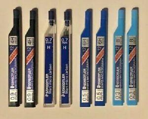 Staedtler Pencil Leads Pk 12 0.3mm, 0.5mm, 0.7mm, 0.9mm,  Asst Grades