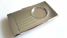 Guillotine Cigar Cutter Silver / Chrome Retractable & Lock Action 58 Ring Gauge