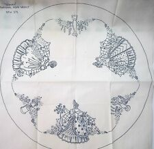 Vintage iron on embroidery transfer-Large crinoline lady centrepiece Woman W375