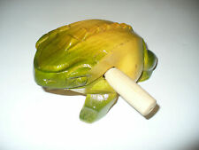 6.5 inch Frog Wooden Percussion rasp tone block hand carved
