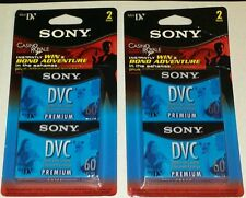 2 Sony 2-Packs DVC Digital Video Cassettes 60 Min *New In Package* SHIPS FREE!