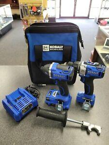 """KOBALT 24v MAX BRUSHLESS 2 Tool Combo Kit 1/2"""" Drill Driver 1/4"""" Impact Wrench"""