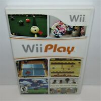 Wii Play (Nintendo Wii, 2007) Game & Manual in Case Tested & Working