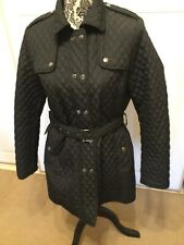 BLACK KATIES QUILTED TRENCH PERFECT CONDITION 12