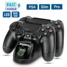 Controlador para PS4 Cargador Rápido muelle de carga Estación De Acoplamiento Carga Doble