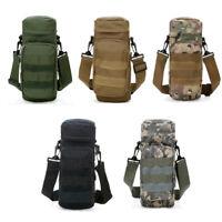 Adjustable Tactical MOLLE Water Bottle Pouch Holder Kettle Waist Back Pack Bag