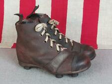 Vintage Antique Leather Soccer Football Cleats Miniature Rugby Shoes Childs Size