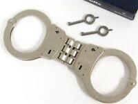 Smith & Wesson S&W 350096 Hinged Model 300 Handcuffs 300-1 Nickel + Keys
