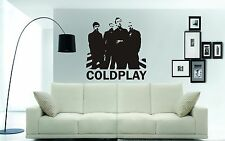 COLDPLAY wall art sticker, decal, mural, 3 x sizes and different colour choices