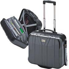 Valise cabin avec roulettes trolley pour PC portable polycarbonate anthracite