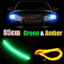 2x 85cm Soft Strip Amber Green Switchback Car Motorcycle DRL & Turn Signal Light