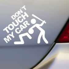 1pc White Don't Touch My Car Removable Car Sticker Vinyl Decal DIY Decoration