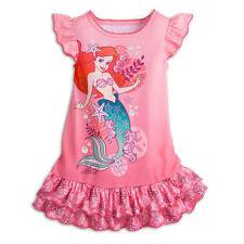 Disney Store Little Mermaid Ariel Pink Princess NightGown Pajamas 7/8