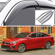 4x Car Window Visor Vent Deflector Sun/Rain Guard for KIA Forte Cerato 2019-2020