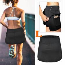 Women Sports Pantskirt Fitness Skirted Shorts w/Pocket for Running Exercise